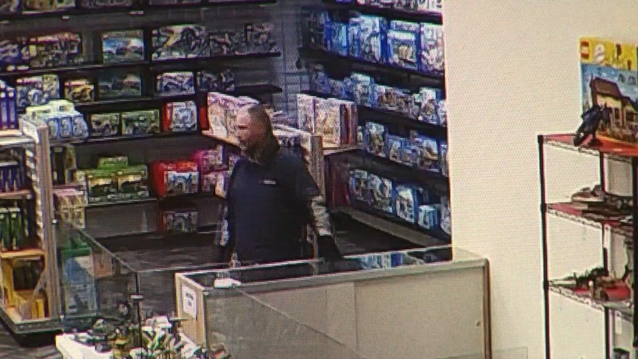 Surveillance image of suspect.