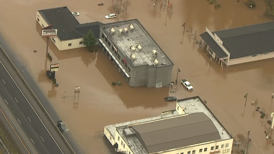 AIR 12 over flooding in Kalama, WA
