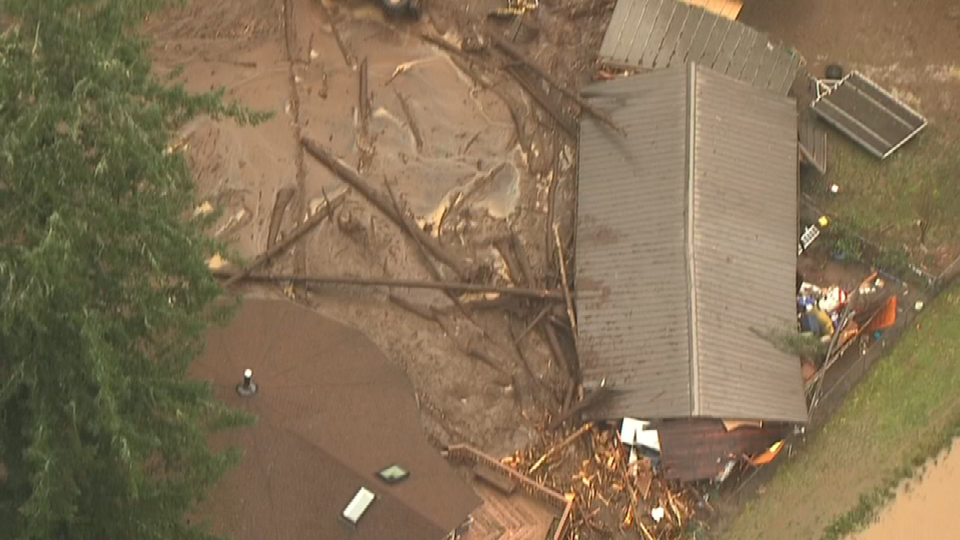 A man and a deputy had to be rescued after a landslide in Kalama, WA