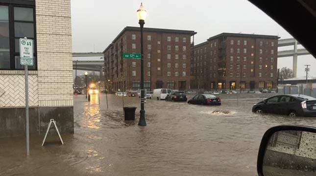 Flooding on Monday (Photo: Portland Bureau of Transportation)