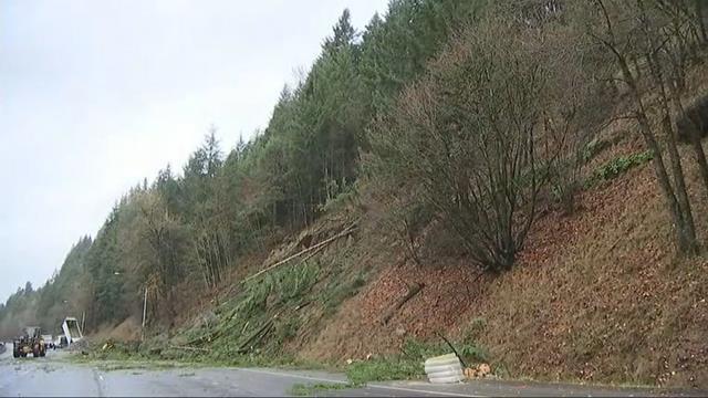 (File Image) Crews responded to landslide on I-5 near Woodland in December