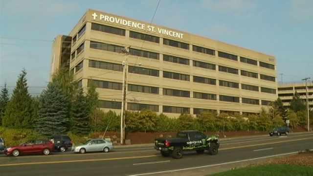 Providence St. Vincent Medical Center in Portland (KPTV file image)