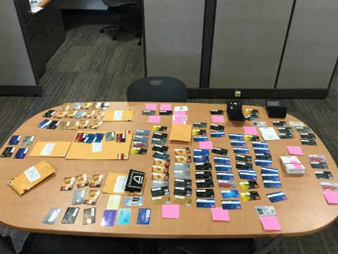 Stolen credit cards recovered (Photos: West Linn Police Department)