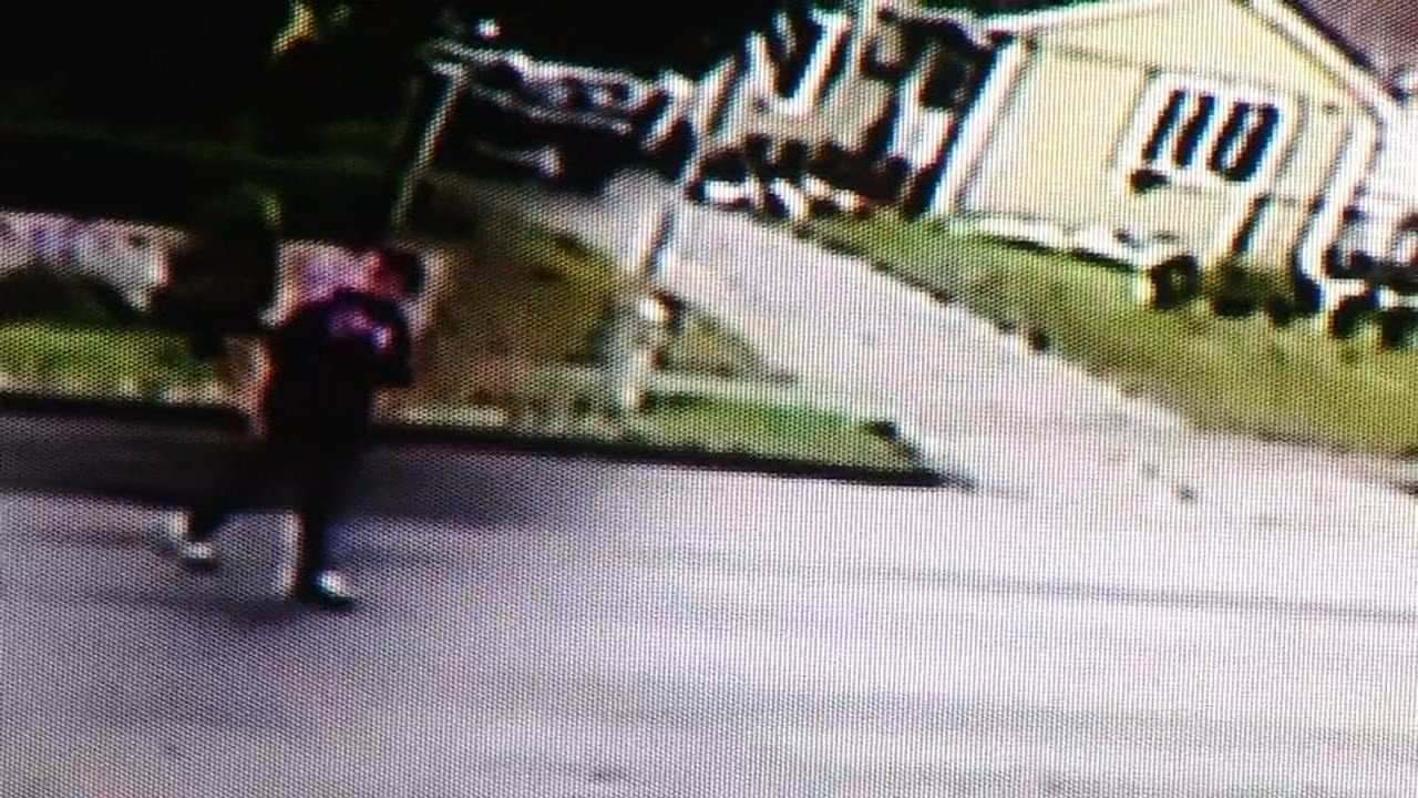 Surveillance image of man hired to fix house who allegedly stole from the Hernandez family.