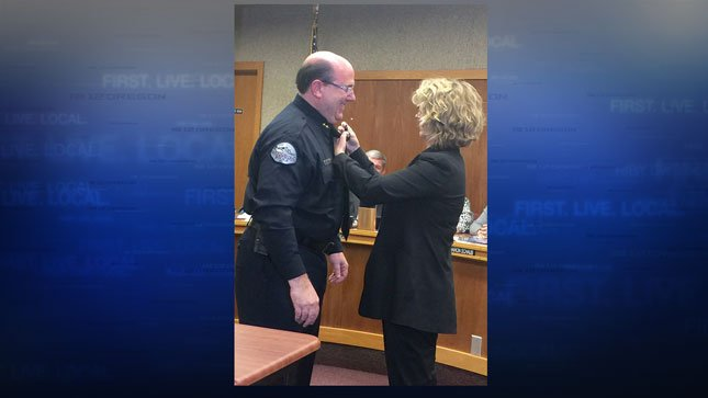 Chief Jim Ferraris and wife Lisa Ferraris (Courtesy: Woodburn Police)