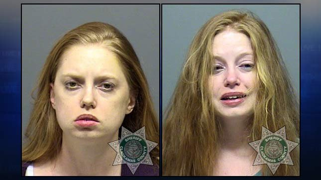 Jail booking photos of Shanon Harlan from two previous DUII arrests.