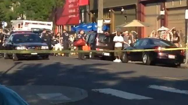 Last Thursday shooting scene in NE Portland, May 28