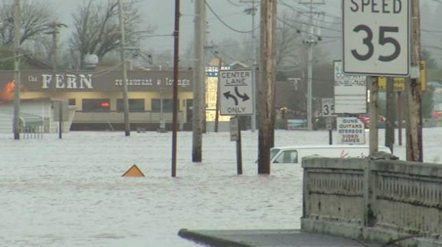 Flooding in Tillamook last week.