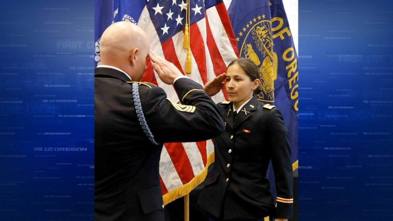 Second Lieutenant Deanna Holliman commissioned at a ceremony at OSU in September.