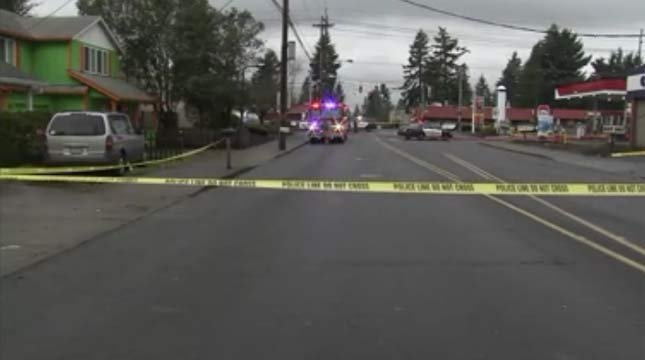 Deadly shooting scene at SE 112th and Division Street