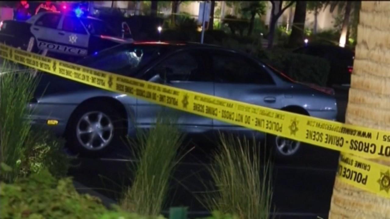 Car involved in deadly crash on Las Vegas Strip