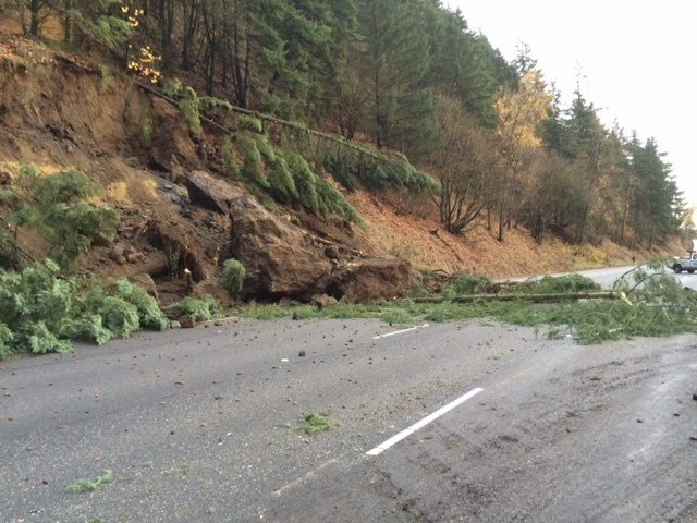 A landslide Dec. 9 kept the northbound lanes of I-5 closed for more than a day near Woodland (File photo)