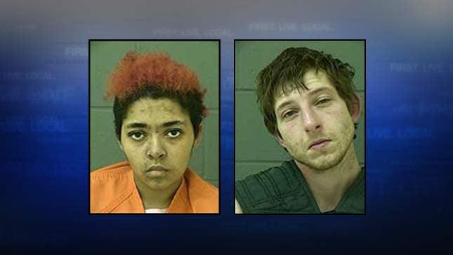 Fanesha Leaprea Montgomery , Caleb Mayne Maxwell, jail booking photos