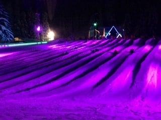 Skibowl's cosmic tubing hill on Mt. Hood Monday.