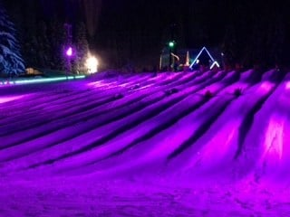 Skibowl's cosmic tubing hill on Mt. Hood Monday.