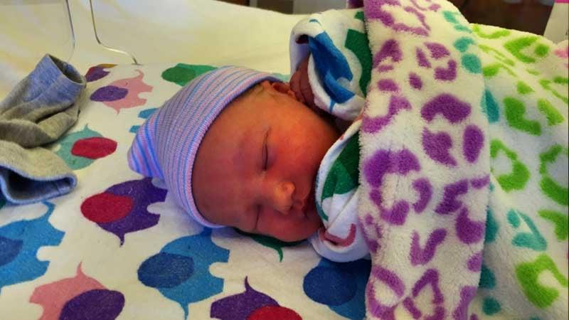 Gemma Eileen McDowell, born at 12:01 a.m. Jan. 1, 2016.