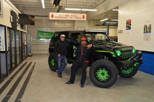 Marshawn Lynch and his custom Jeep.