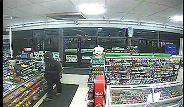 Surveillance image of suspect (Photo: Woodburn Police Department)