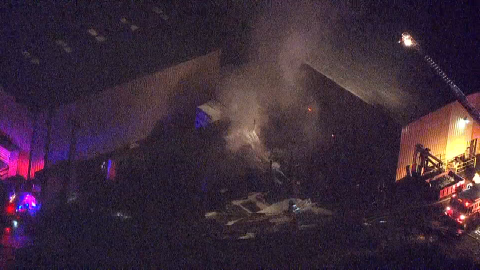 Aerial view of fire scene from AIR 12
