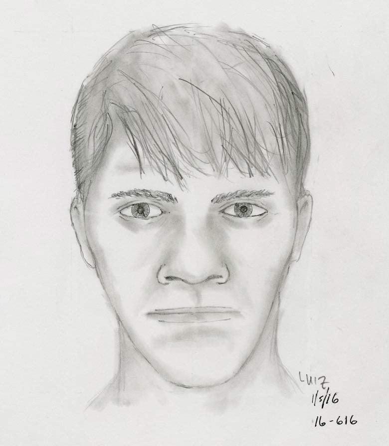 Sketch of SE Portland sexual assault suspect (Portland Police Bureau)