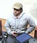 Bank robbery suspect (Photo: Medford police/Facebook)