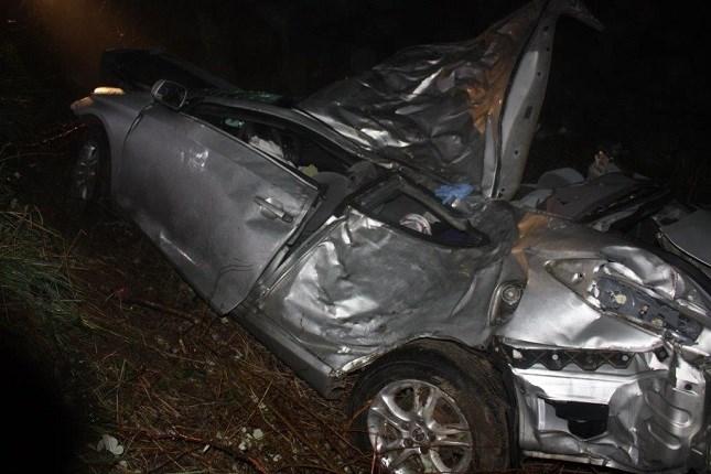 Crash on Bellfountain Road; Courtesy: Benton County Sheriff's Office