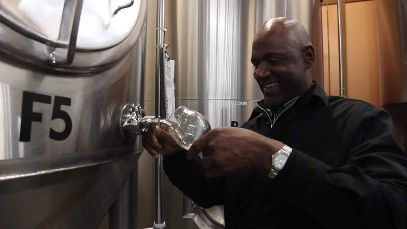 Terry Porter at Gilgamesh Brewing (Photo: Gilgamesh Brewing)