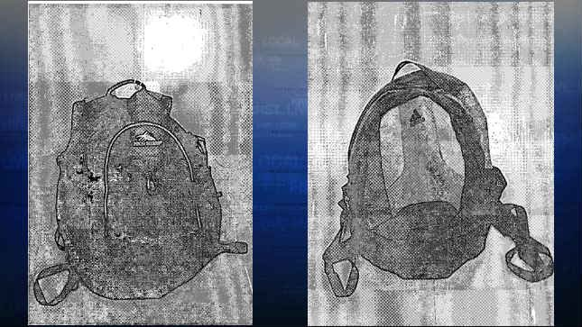 Images of the backpacks that were searched.