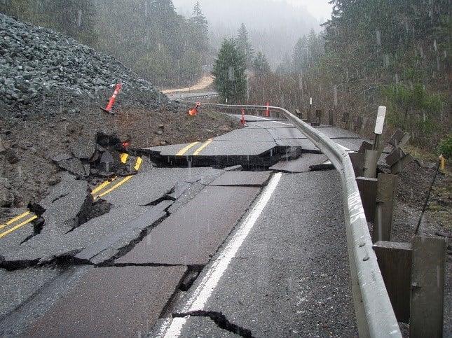 Highway 42 after Dec. 23 landslide