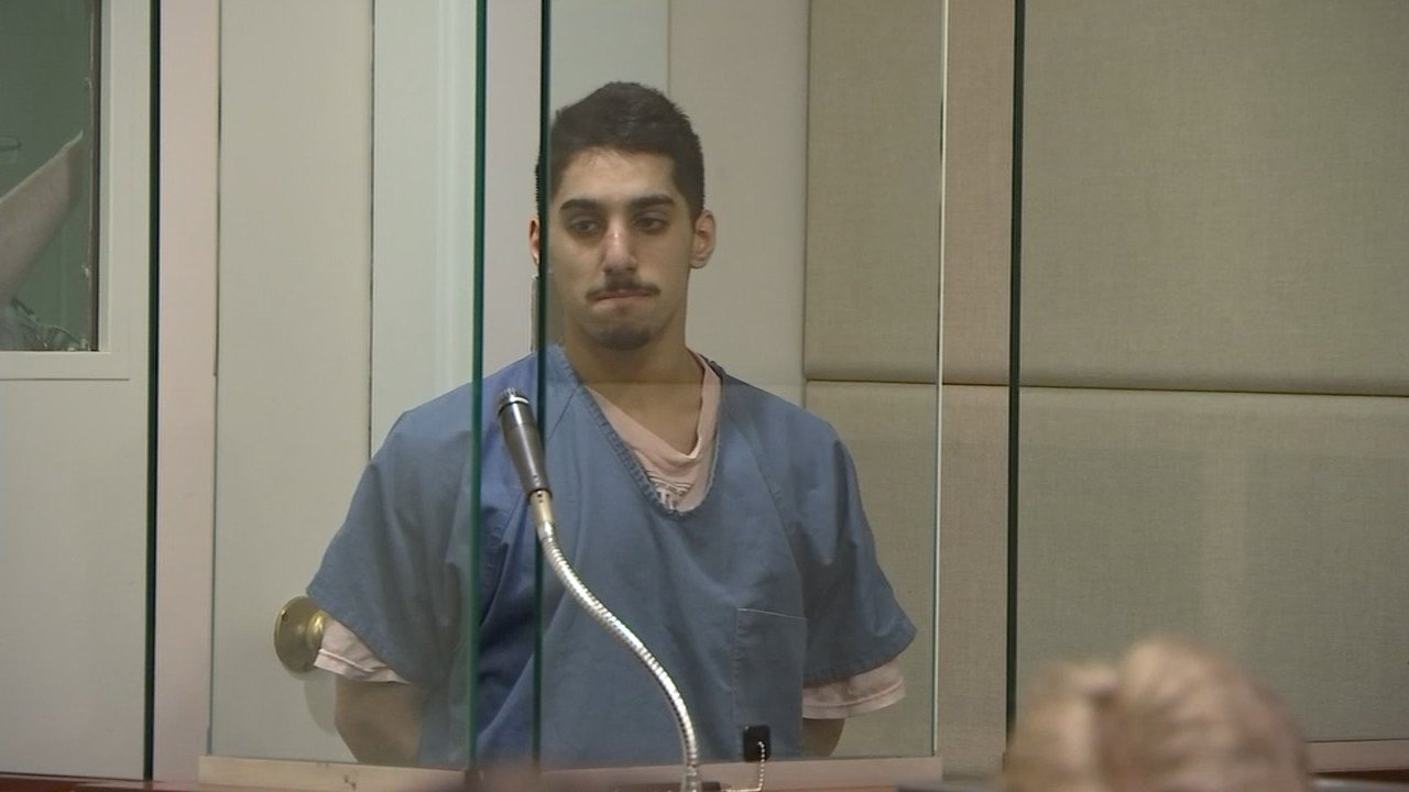Suliman Algwaiz making his first court appearance.