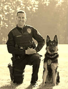 K9 Luca and his partner Sgt. Crouch.