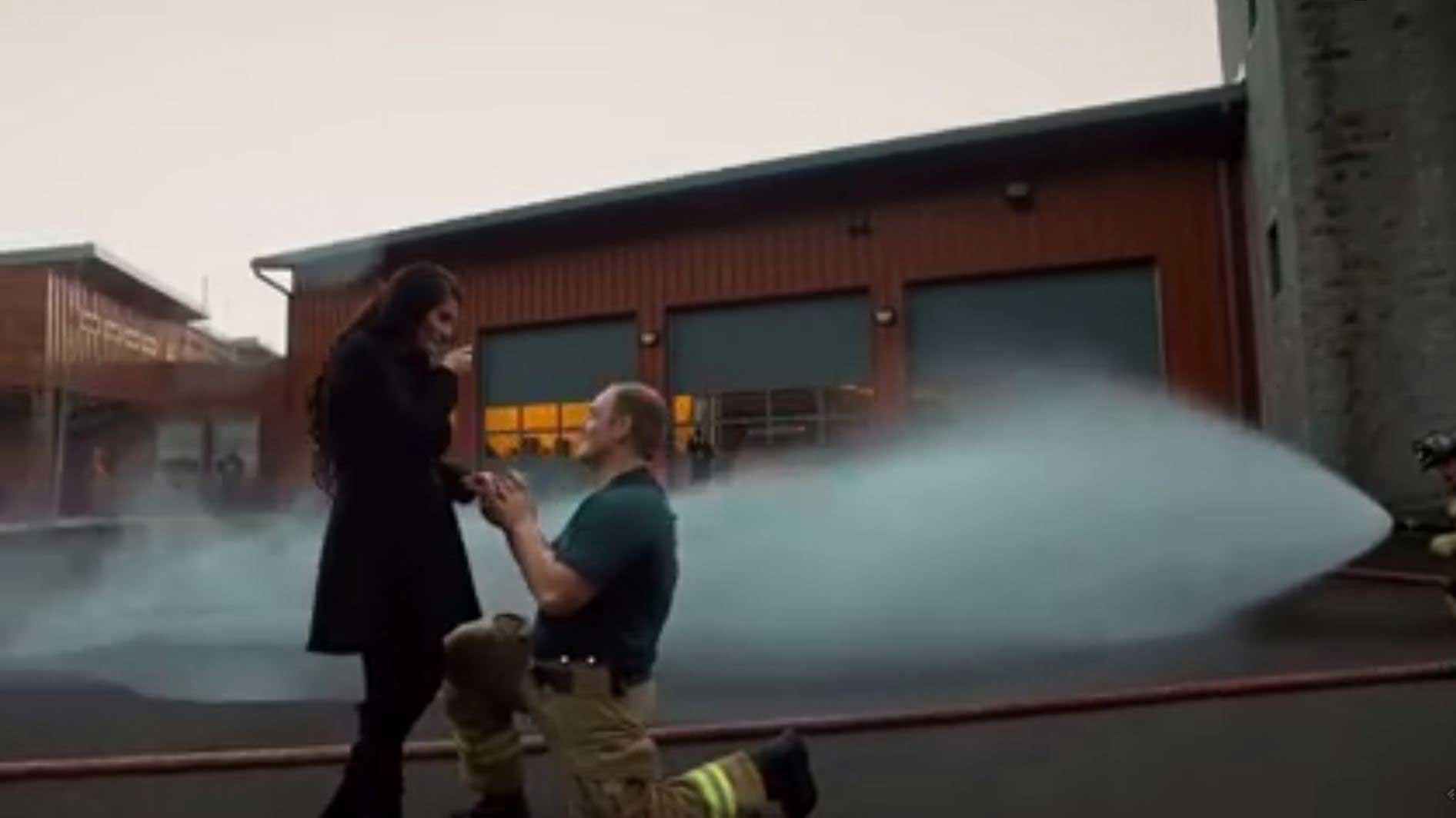 Screenshot of proposal video (Courtesy: Facebook/TAustin Photography)
