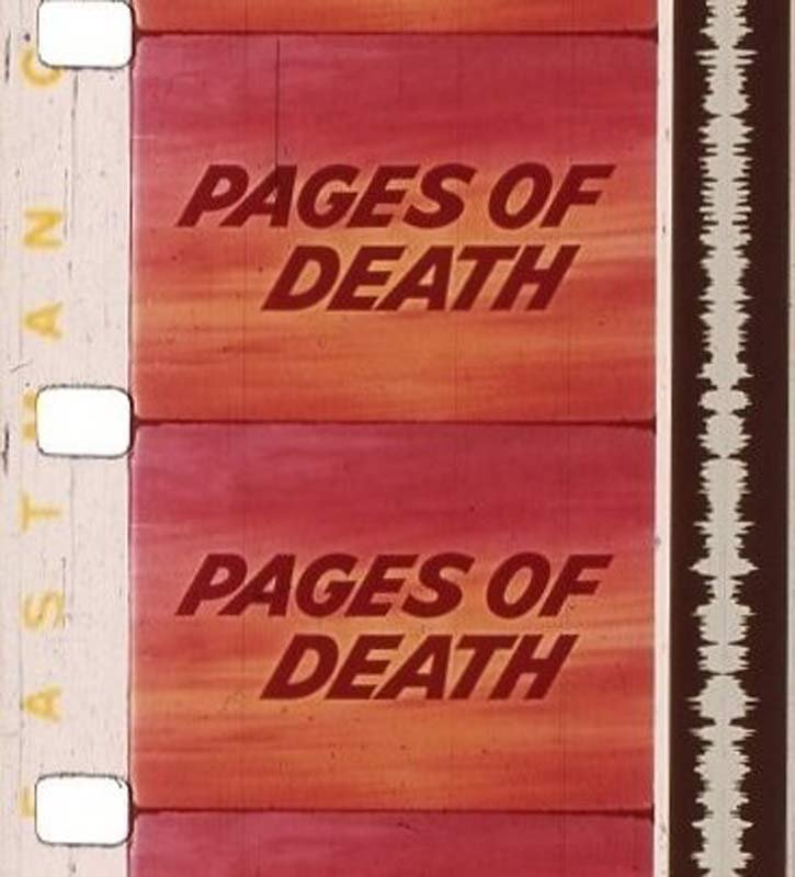 """""""Pages of Death"""" image from Oregon Historical Society"""