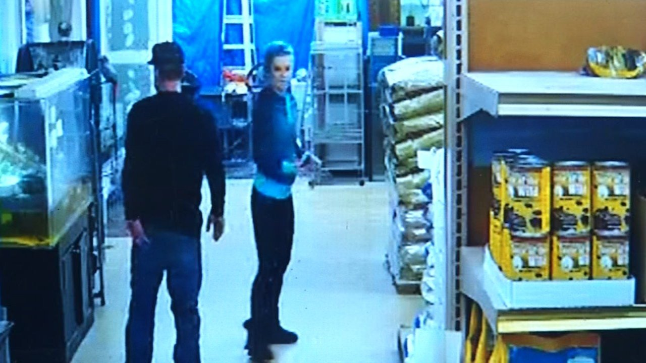 Snake theft suspect and possible accomplice at A to Z Pets in southeast Portland.