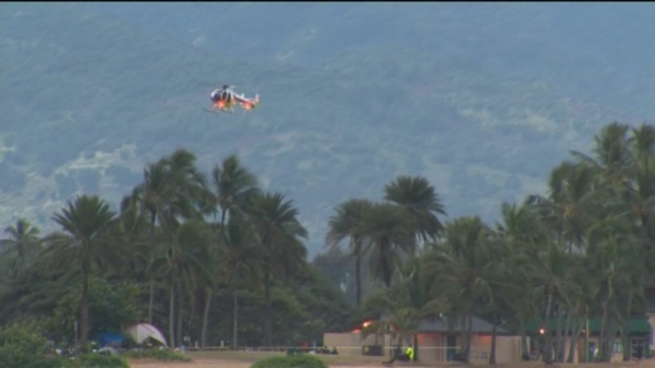 Crews were searching off the coast of Oahu Friday after two Marine Corps helicopters collided just before midnight Thursday. (Photo: CNN)