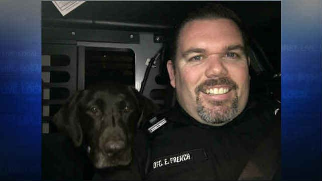 Officer Eric French and K9 Zoey (Photo: Tualatin Police Department)