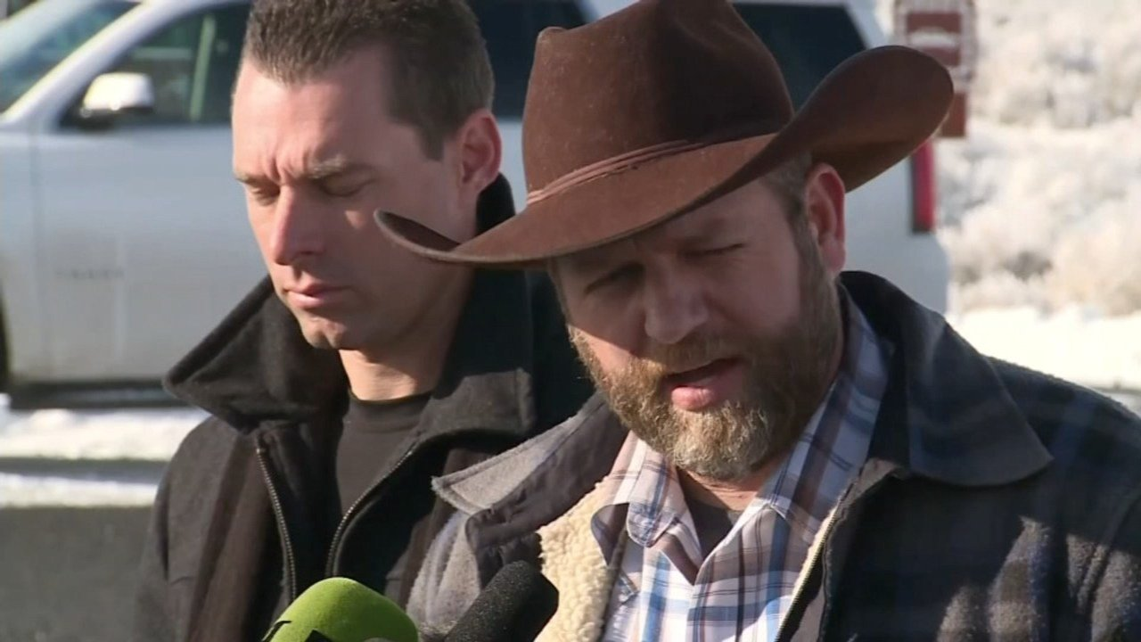 Ammon Bundy at wildlife refuge in January