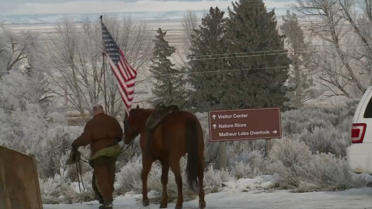 File image of occupation at Malheur National Wildlife Refuge