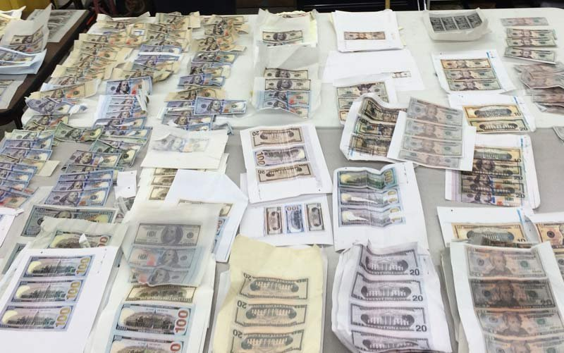 Counterfeit money seized in bust (Photo: Clackamas County Sheriff's Office)