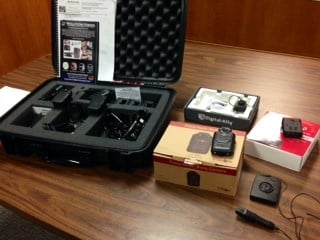 Some of the body camera models the Beaverton Police Department is considering.