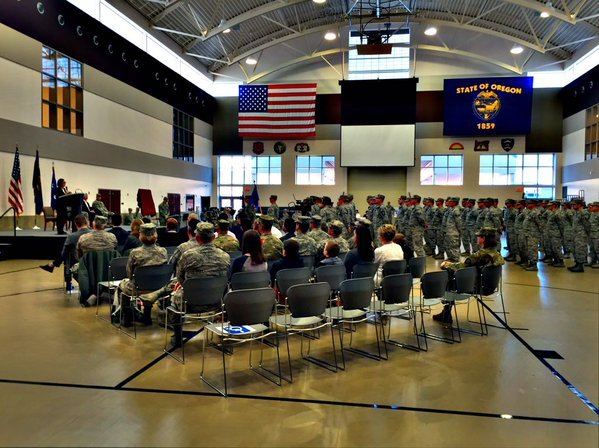 Formal demobilization ceremony for Oregon National Guard's 116th Air Control Squadron.