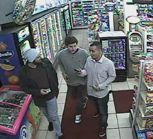 Persons of interest in NW Portland attack on Green Bay Packers fan (Surveillance image from Portland Police Bureau)