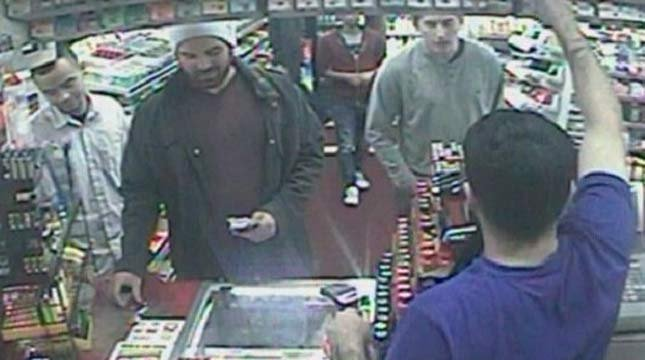 Persons of interest in NW Portland attack on Green Bay Packers fan (Surveillance image from PPB)