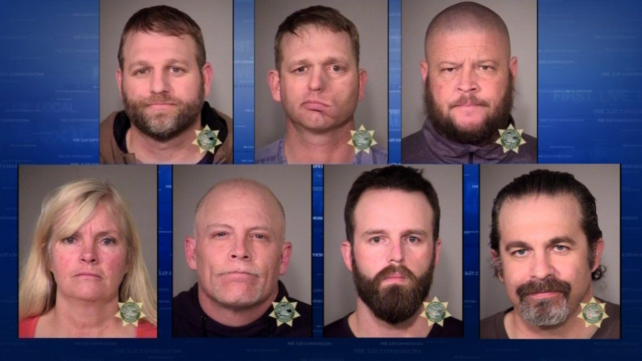 Seven people arrested Tuesday are being held at the Multnomah County Jail in Portland