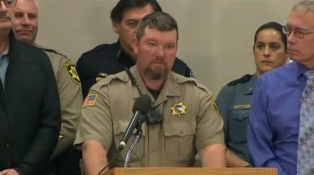 Harney County Sheriff David Ward at a press conference Wednesday