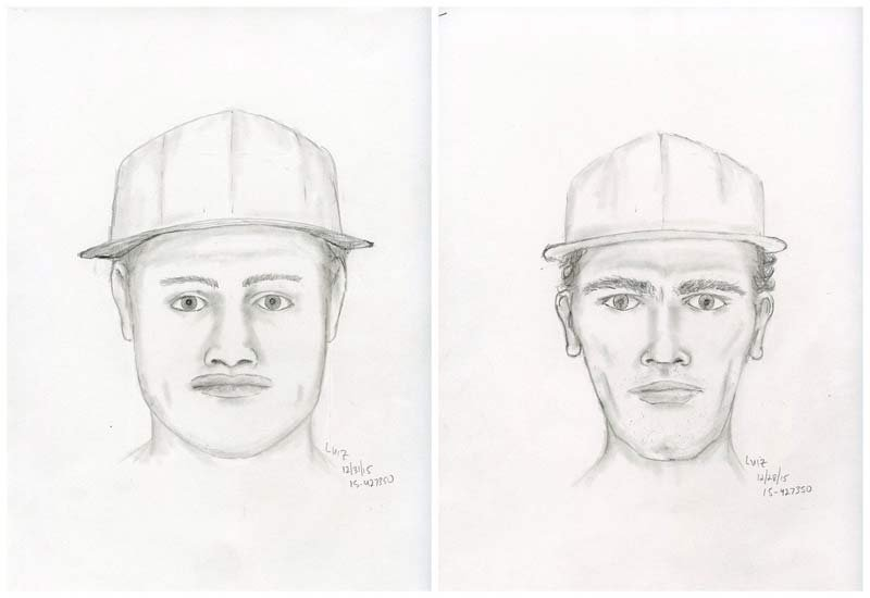 Sketches released of suspects involved in stabbing on SE Grand in Portland (Sketches from Portland Police Bureau)