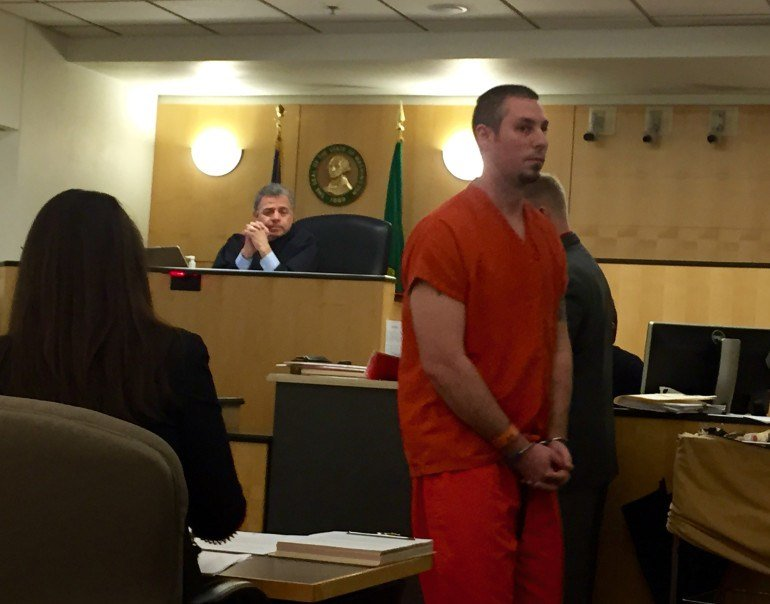 Alex Wright court appearance; Courtesy: The Columbian
