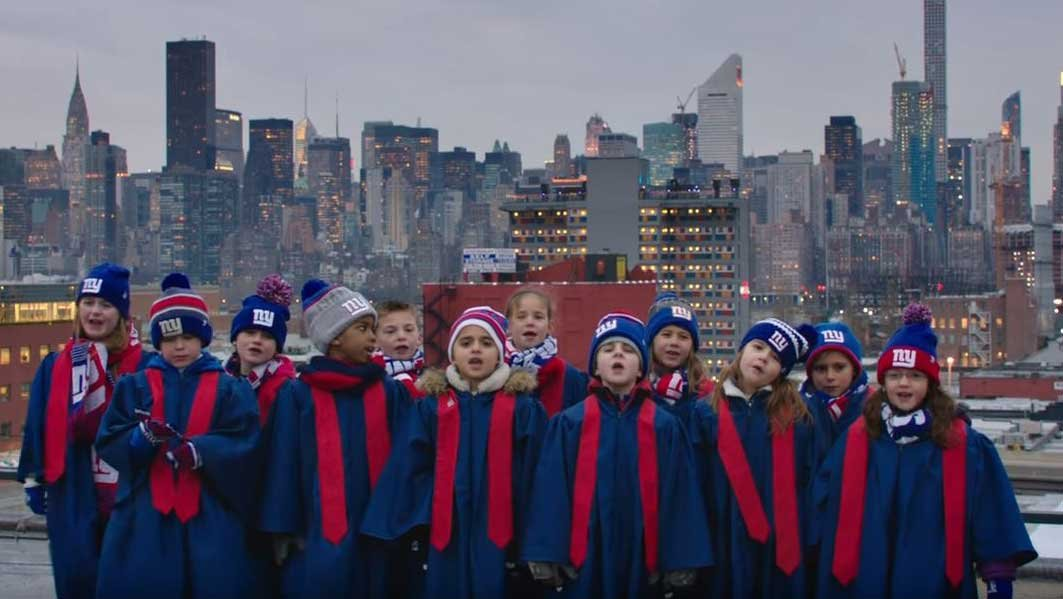 Screengrab from YouTube video of 'Super Bowl Babies Choir' ad
