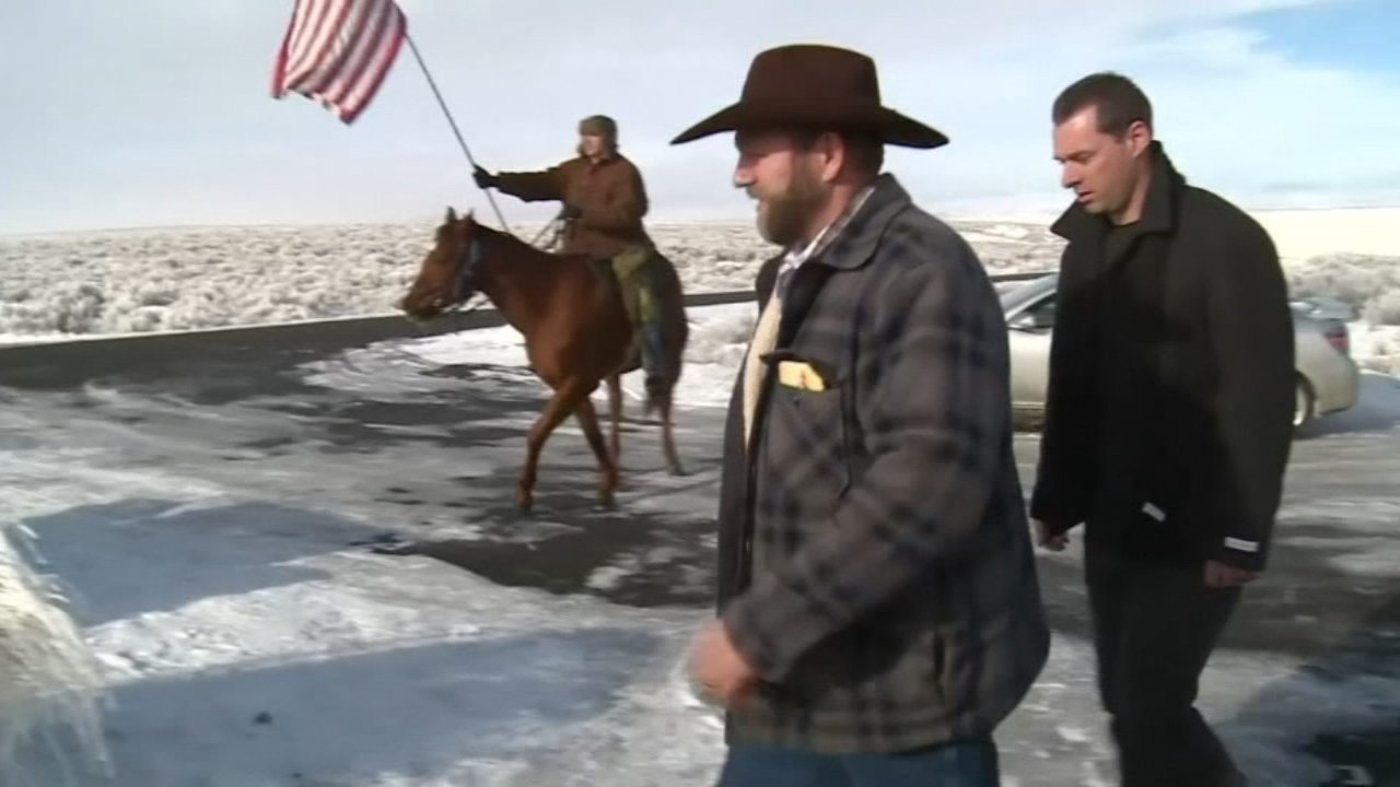 Ammon Bundy during occupation of Malheur National Wildlife Refuge (file image)