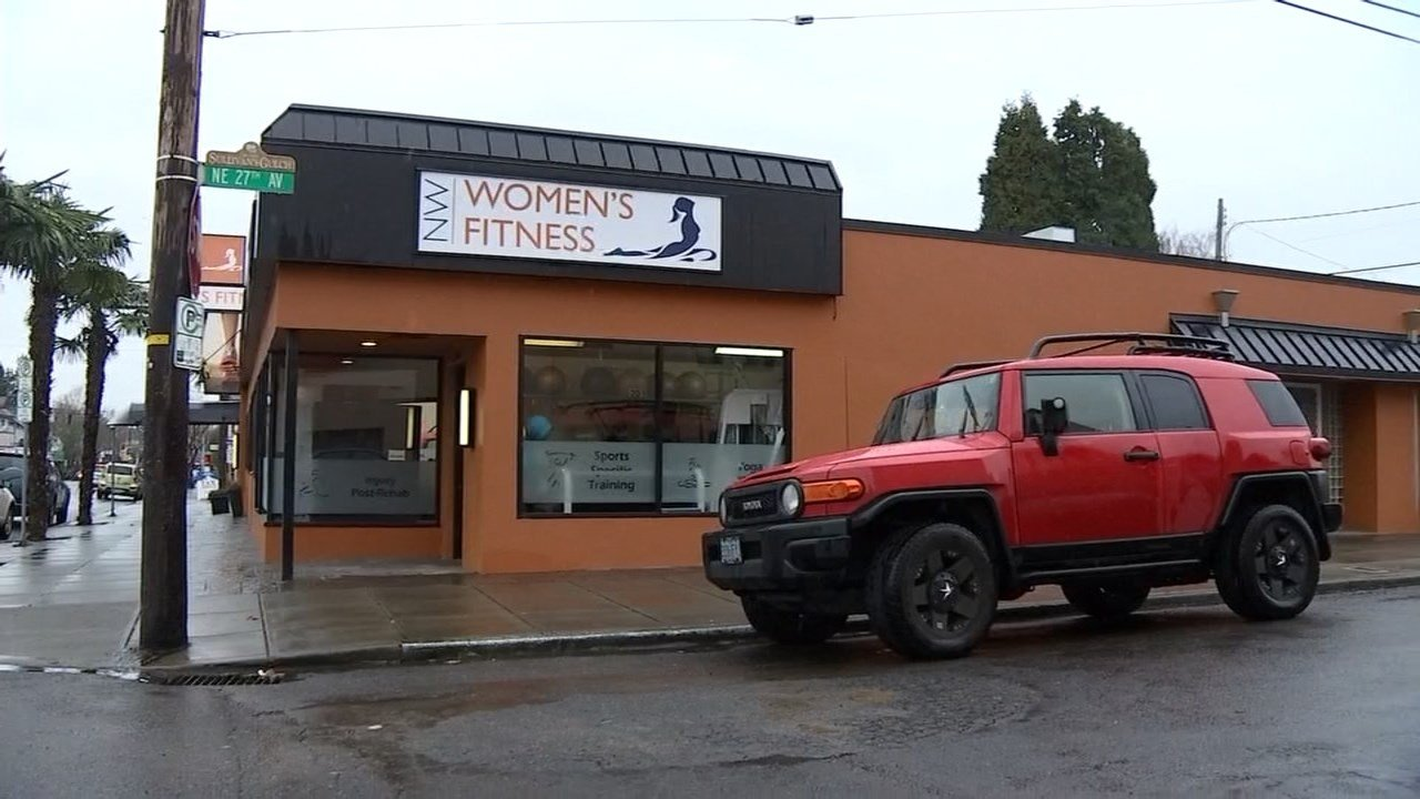 Women working out at Northwest Women's Fitness Gym confronted a suspect who was breaking into a car on the street. (Photo: KPTV)